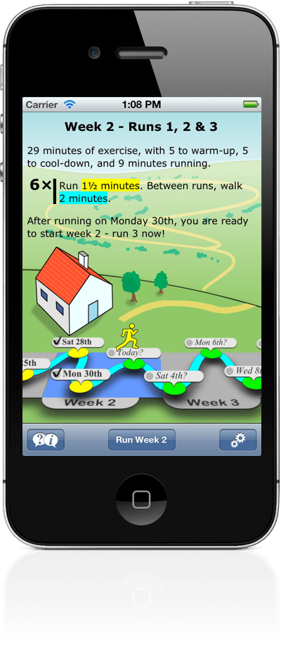 Get Running for iPhone, iPod Touch and Android